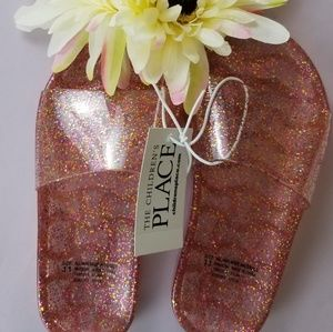 NWT THE CHILDREN'S PLACE JELLY SHOES, SIZE Y11